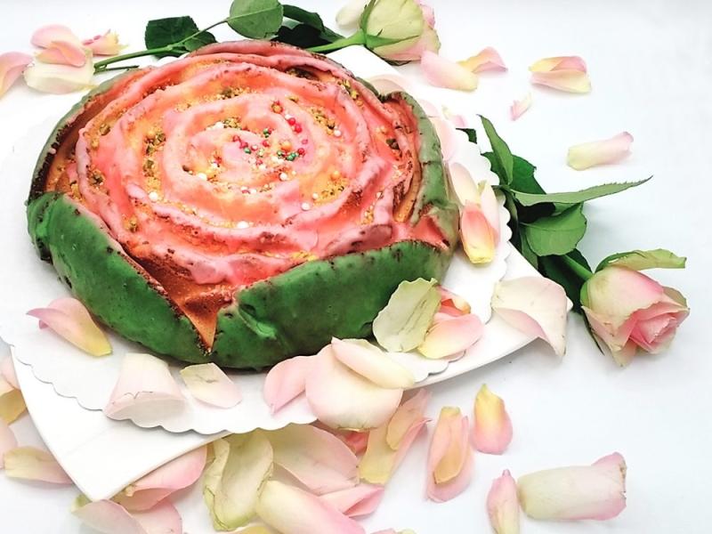 ciasto krecone z marcepanem