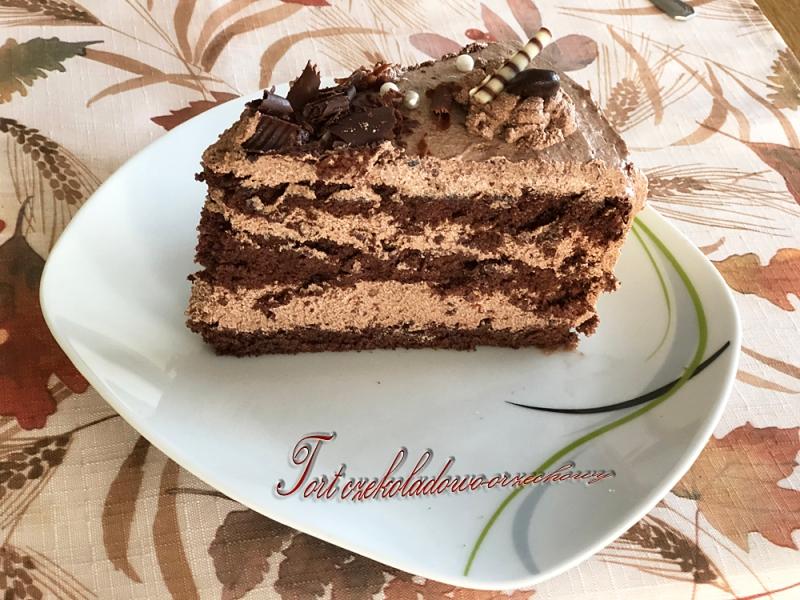 tort czekoladowy z masą budyniowo-czekoladową