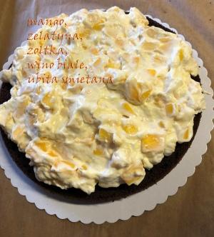 Tort kakaowy z mango