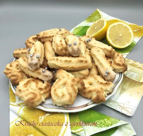 Kruche ciasteczka z likierem
