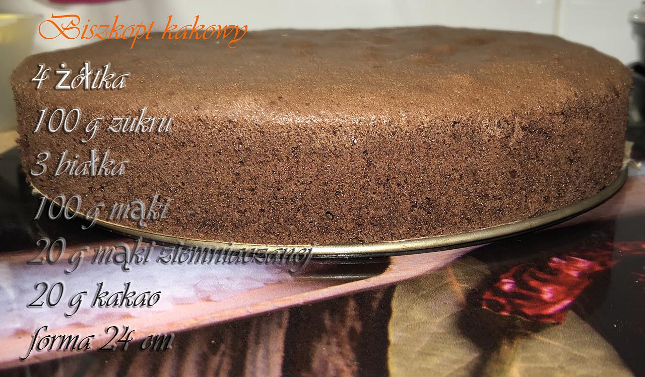 tort z mango,biszkopt kakowy
