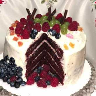 red velvet, czerwony velvet, tort