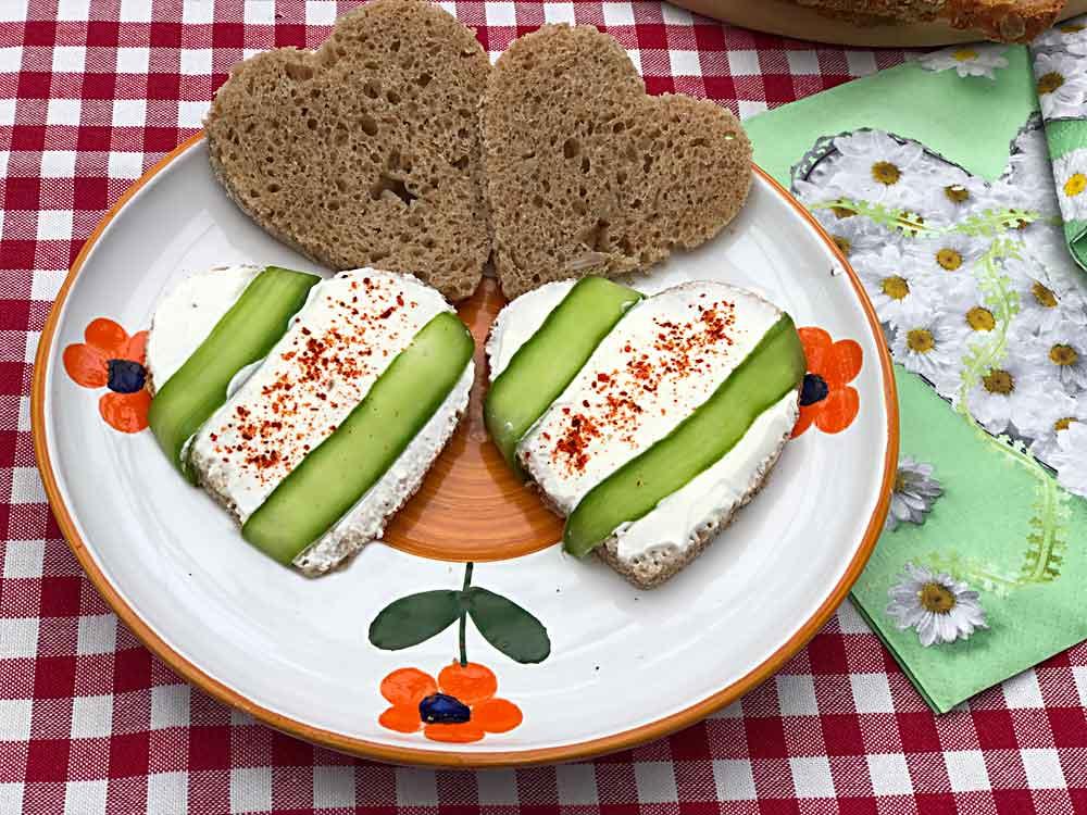 Walentynkowa opcja podania chleba ze słodem