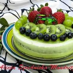 zielona japońska herbata, owoce, torty, mleko, śmietana, mascarpone
