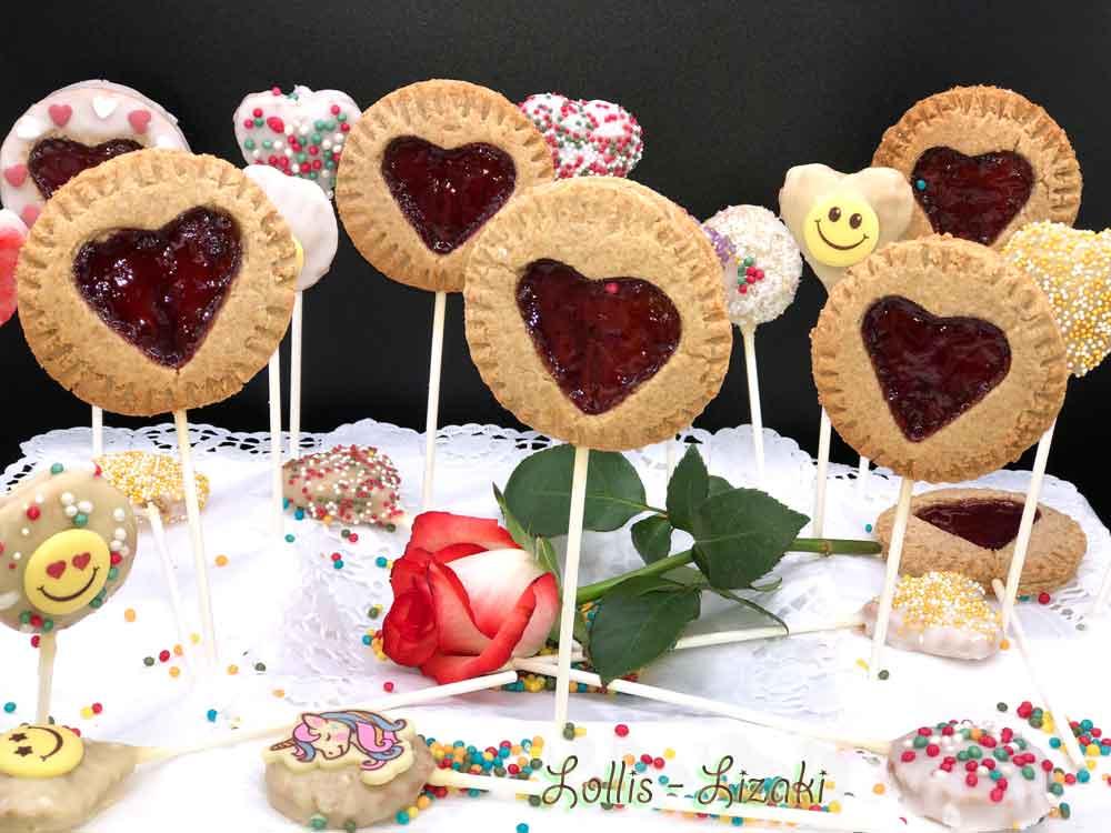 Ciasteczka - Lizaki walentynkowe