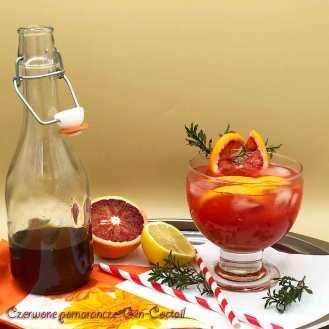 cocktail, krwawe pomarańcze, tymian, imbir