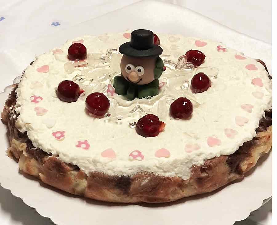 Gruszkowy tort noworoczny