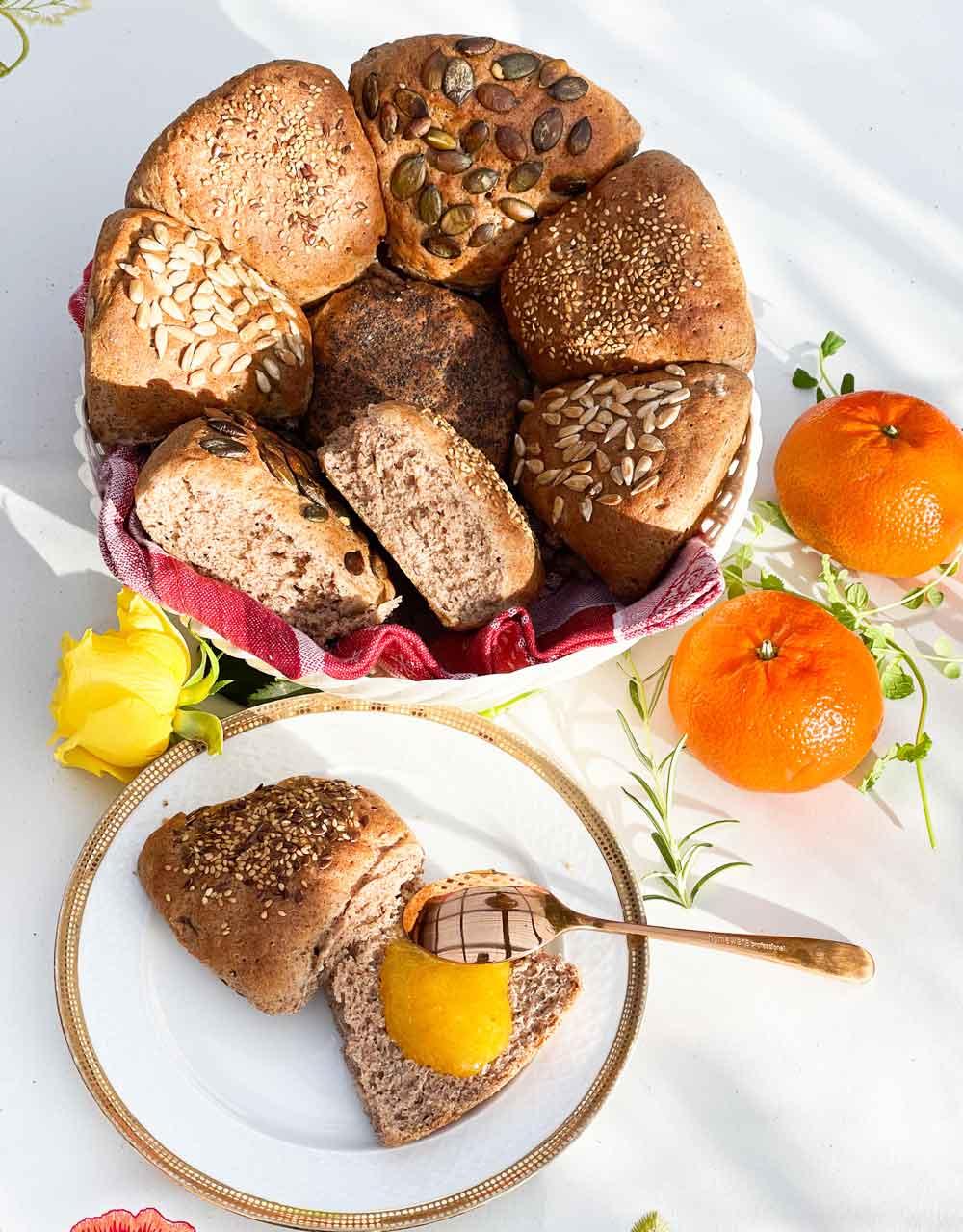 Bułeczki z mąką lnianą