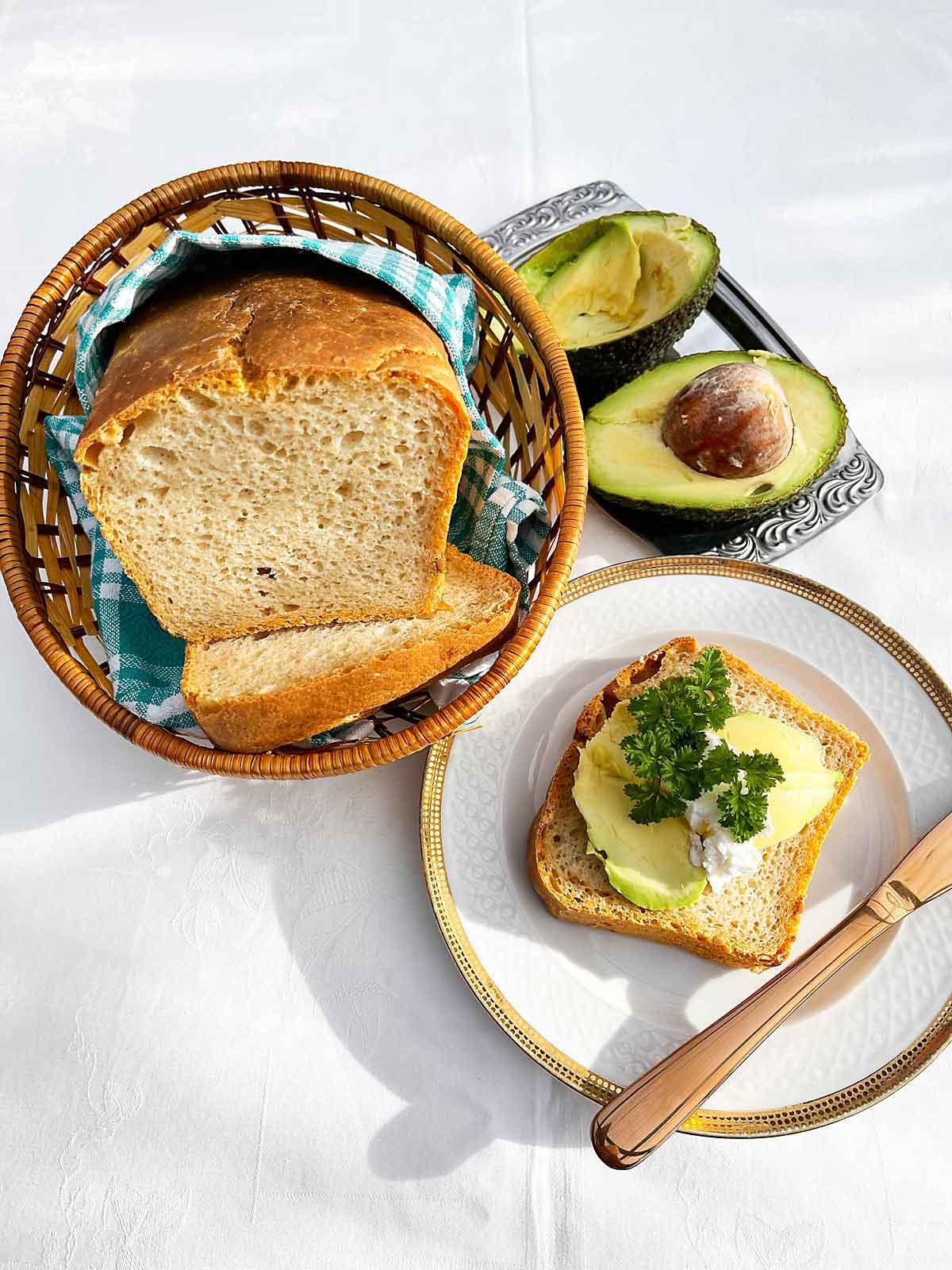 Chrupiacy chleb z maka duru