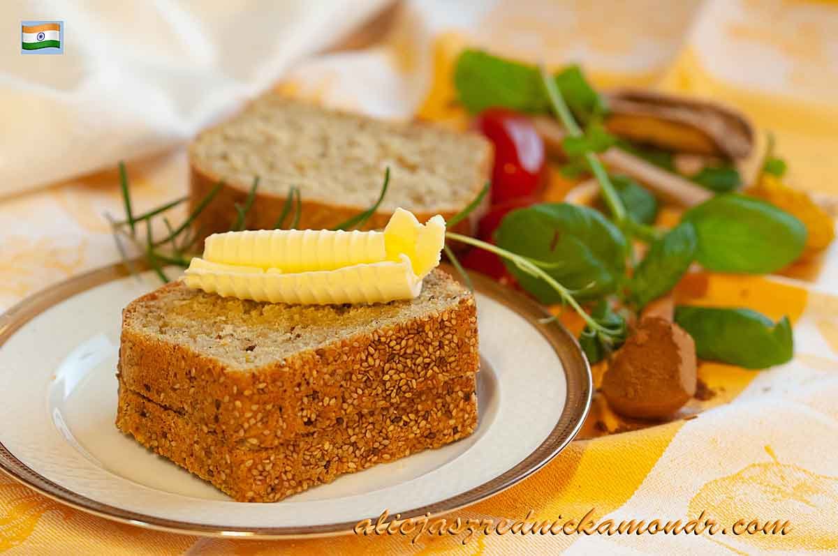 Sezamowy chleb indyjski