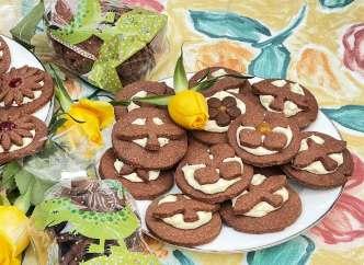 Ciastka ,kakaowe, krem Marsmallow,