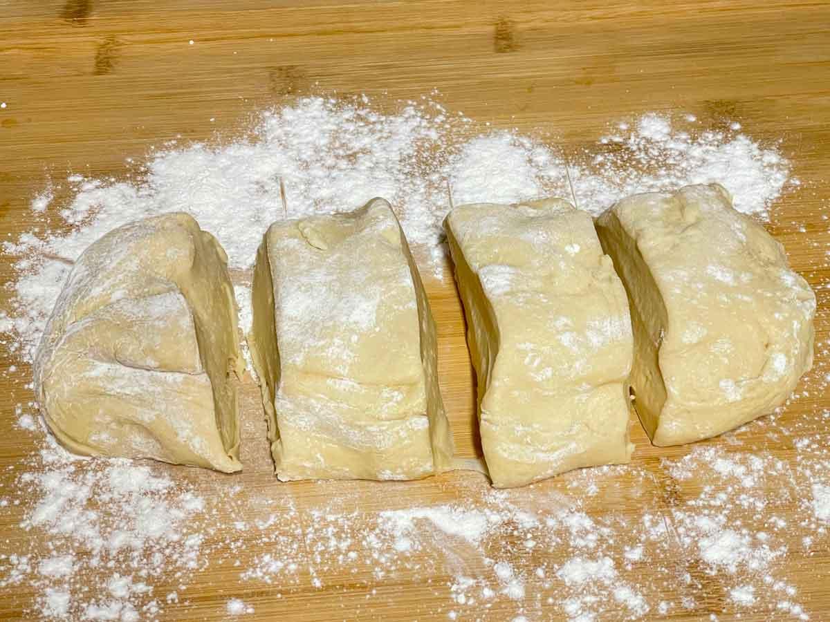 przygotowanie japońskiego chleba białego