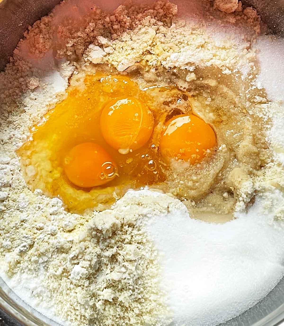 składniki na wielkanocne ciasteczka-zajączki i lamy