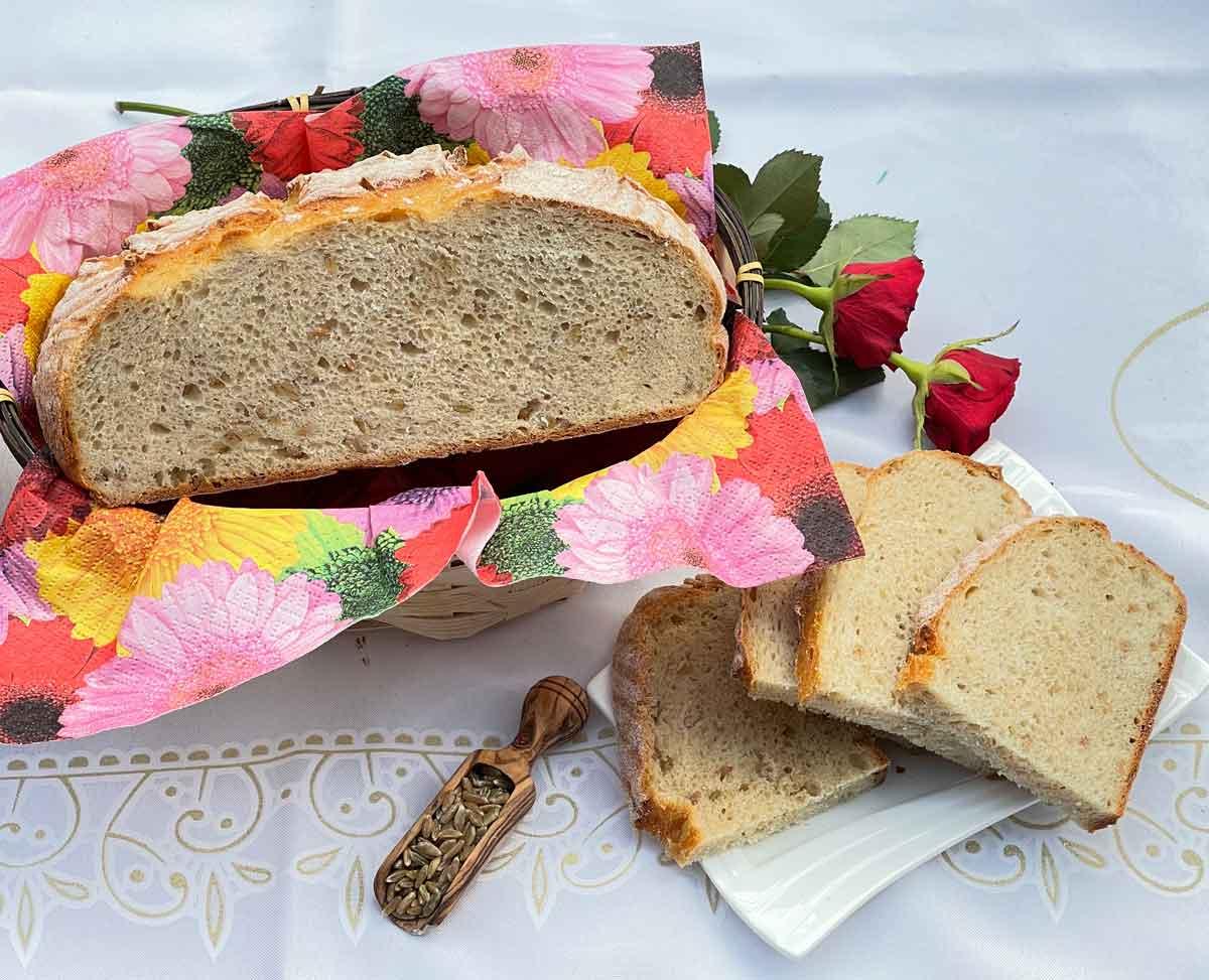 Chleb z zielonym ziarnem
