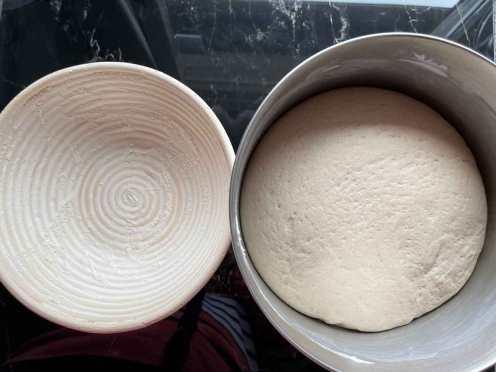 przygotowane ciasto na Chleb ze Skyrem