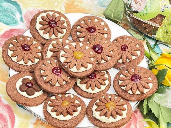 ciasteczka, kakaowe, krem Marsmallow