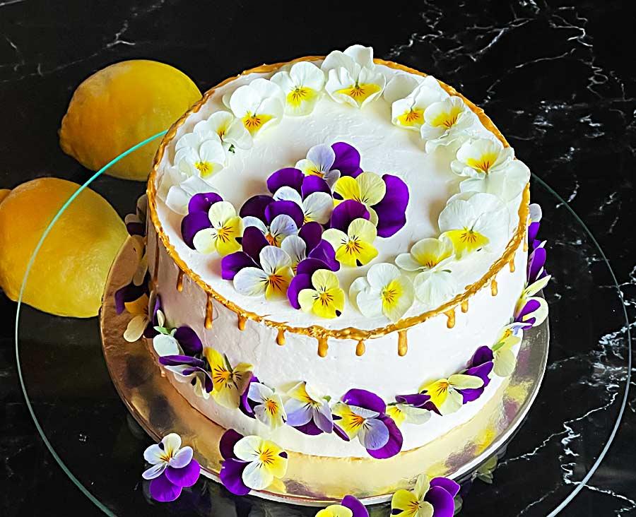 Czekoladowy tort z truskawkowym kremem