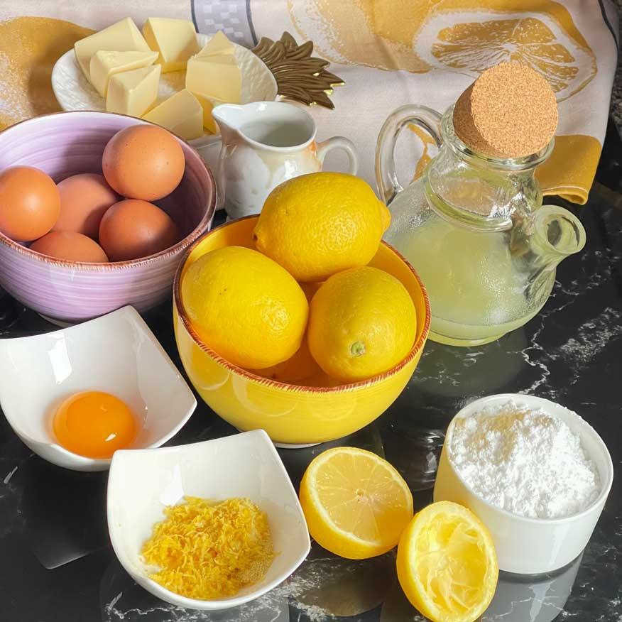 Składniki na Lemon Curd własnej roboty