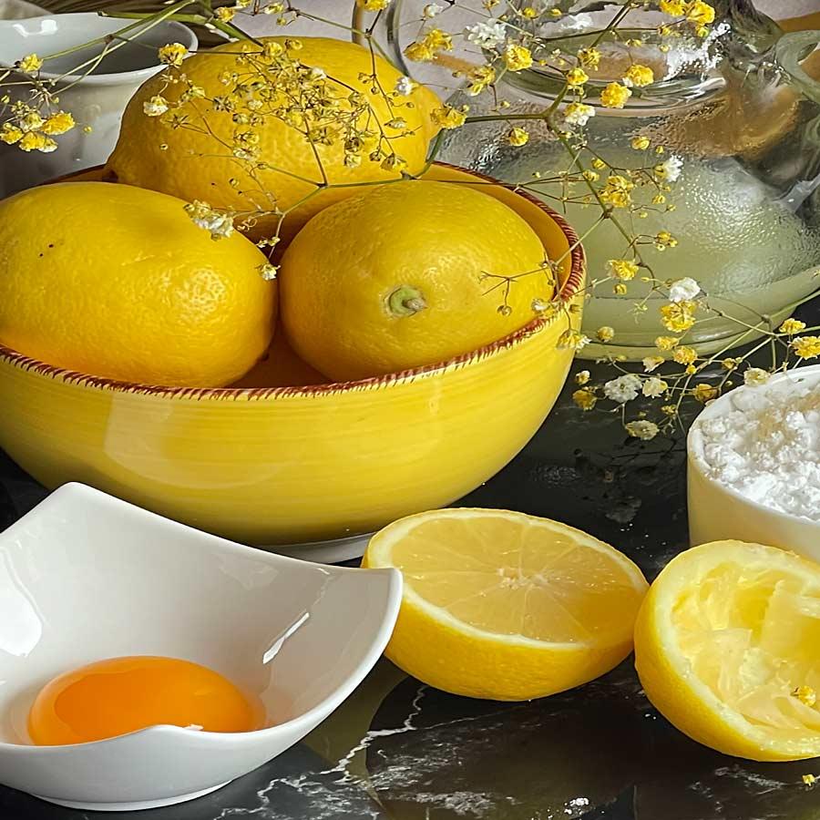 główne składniki Lemon Curdu