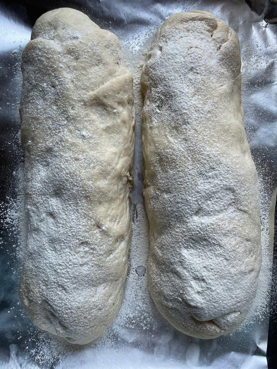 Tea Bread-zwinięte rulony wyrośnięte