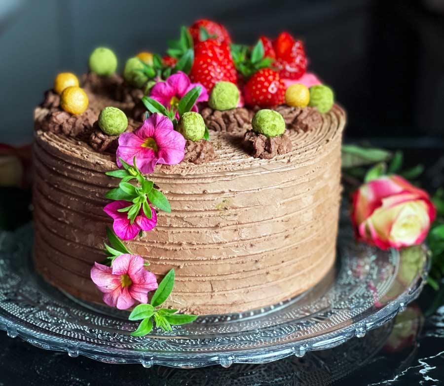 Truskawkowy tort z Ganache