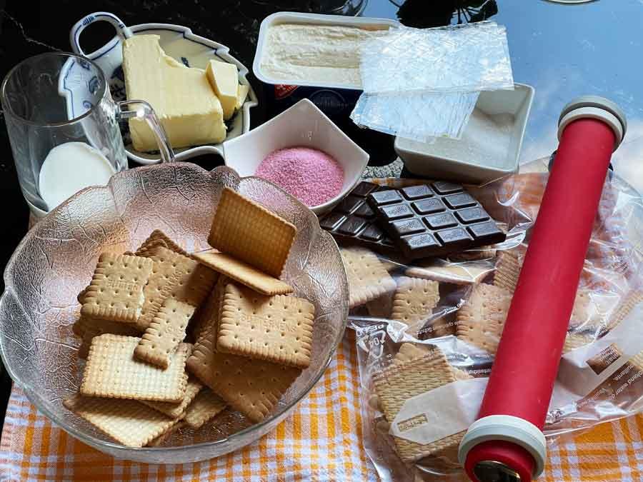 składniki Tortu na zimno -Arbuz