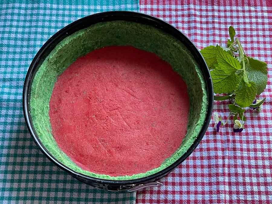 Tort na zimno-Arbuz/ przygotowanie