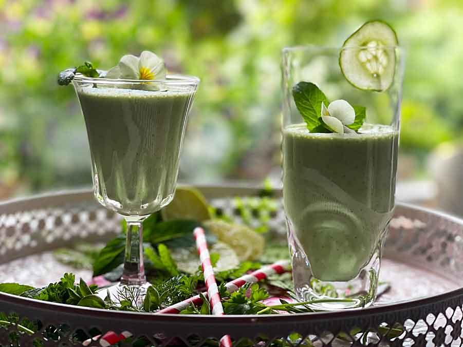 Cocktail ze Skyru i maślanki