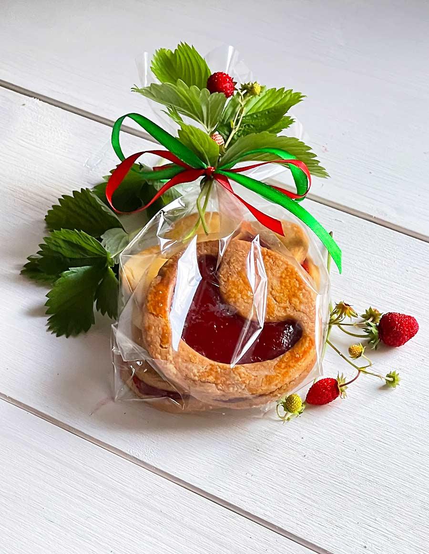 Francuskie ciasteczka z marmoladą