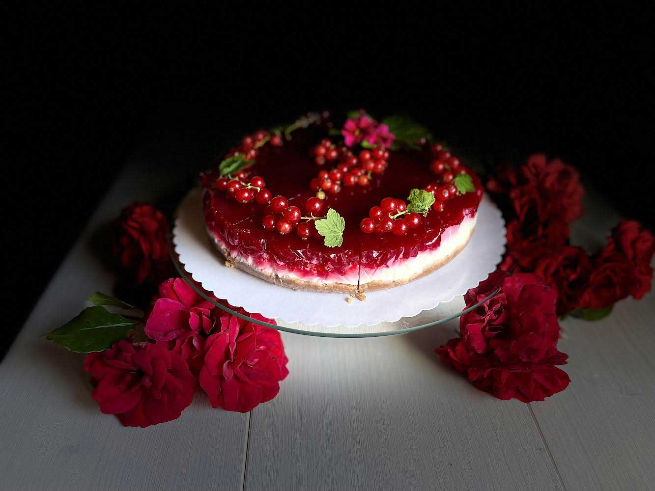 Porzeczkowy tort Skyrowy