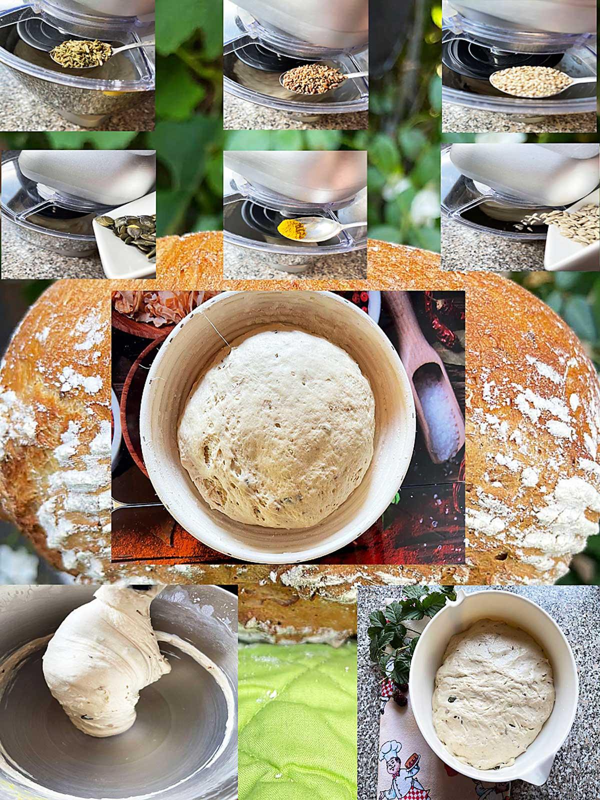 Chleb z maślanką i 5-cioma ziarnami