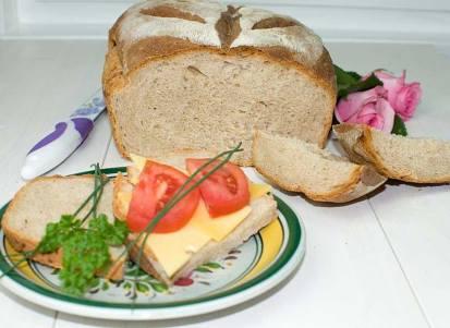 Chleb mieszany z jogurtem