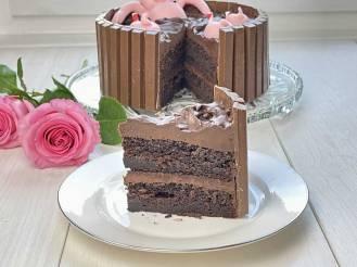 Tort czekoladowy - Świnki w błocie